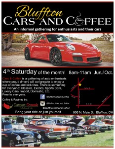 Bluffton Cars and Coffee flyer 2015